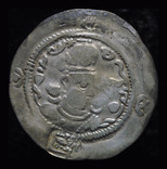 Сасаниды Ормизд IV (AD 579-590) Балх надчеканы Göbl type I/1