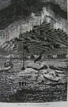 Гравюра.Дом Ганзы на льду и северное сияние.Кон. 19 века. фото 2