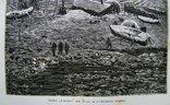 Гравюра.Дом Ганзы на льду и северное сияние.Кон. 19 века. фото 3