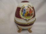Большая шкатулка - яйцо - Франция? - высота 15,5 см., фото №2