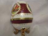 Большая шкатулка - яйцо - Франция? - высота 15,5 см., фото №5