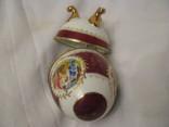 Большая шкатулка - яйцо - Франция? - высота 15,5 см., фото №9