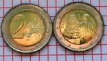 Италия 2 евро, 2015, 750 лет со дня рождения Данте Алигьери, фото №2
