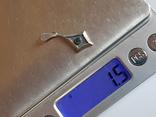Подвес. Серебро 925 проба. Зеленый камень., фото №8