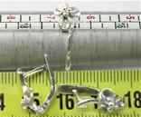 Набор кольцо перстень размер 17 серьги серебро СССР 875 проба 4,33 грамма, фото №6
