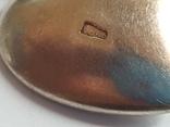 Советский кулон в виде сердце, для фото. Серебро 875 проба с головкой., фото №5