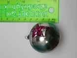 Елочная игрушка Шар  с выпуклым рисунком  Звезда, СССР, фото №6