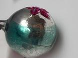Елочная игрушка Шар  с выпуклым рисунком  Звезда, СССР, фото №10