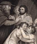 "Старинная гравюра. Шекспир. ""Ричард III"", акт III. 1803 год. (42 на 32 см.). Оригинал. фото 2"