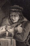 "Старинная гравюра. Шекспир. ""Ричард III"", акт III. 1803 год. (42 на 32 см.). Оригинал. фото 3"