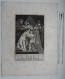 "Старинная гравюра. Шекспир. ""Ричард III"", акт III. 1803 год. (42 на 32 см.). Оригинал. фото 5"