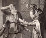"""Старинная гравюра. Шекспир. """"Ричард II"""", акт V. 1803 год. (42 на 32 см.). Оригинал. фото 2"""