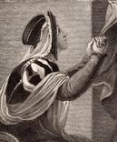 """Старинная гравюра. Шекспир. """"Ричард II"""", акт V. 1803 год. (42 на 32 см.). Оригинал. фото 3"""