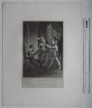 """Старинная гравюра. Шекспир. """"Ричард II"""", акт V. 1803 год. (42 на 32 см.). Оригинал. фото 5"""