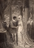 """Старинная гравюра. Шекспир. """"Венецианский купец"""". 1803 год. (42 на 32 см.). Оригинал."""