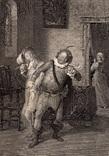 """Старинная гравюра. Шекспир. """"Двенадцатая ночь, или Что угодно?"""". 1803 год. Оригинал."""