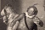 """Старинная гравюра. Шекспир. """"Двенадцатая ночь, или Что угодно?"""". 1803 год. Оригинал. фото 2"""