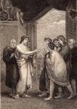 """Старинная гравюра. Шекспир. """"Жизнь Тимона Афинского"""". 1803 год. (42 на 32 см.). Оригинал."""
