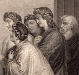 """Старинная гравюра. Шекспир. """"Жизнь Тимона Афинского"""". 1803 год. (42 на 32 см.). Оригинал. фото 3"""