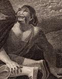 "Старинная гравюра. Шекспир. ""Буря"", акт II. 1803 год. (42 на 32 см.). Оригинал. фото 3"
