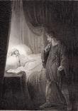 """Старинная гравюра. Шекспир. """"Цимбелин"""", акт II. 1803 год. (42 на 32 см.). Оригинал. фото 1"""