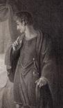 """Старинная гравюра. Шекспир. """"Цимбелин"""", акт II. 1803 год. (42 на 32 см.). Оригинал. фото 2"""