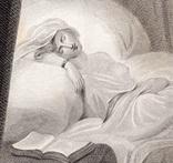 """Старинная гравюра. Шекспир. """"Цимбелин"""", акт II. 1803 год. (42 на 32 см.). Оригинал. фото 3"""