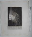 """Старинная гравюра. Шекспир. """"Цимбелин"""", акт II. 1803 год. (42 на 32 см.). Оригинал. фото 5"""