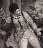 "Старинная гравюра. Шекспир. ""Комедия ошибок"", акт IV. 1803 год. (42 на 32 см.). Оригинал. фото 2"