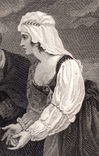 "Старинная гравюра. Шекспир. ""Комедия ошибок"", акт IV. 1803 год. (42 на 32 см.). Оригинал. фото 3"