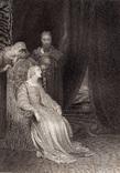 """Старинная гравюра. Шекспир. """"Генрих VIII"""", акт IV. 1803 год. (42 на 32 см.). Оригинал."""
