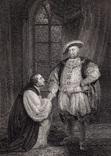 """Старинная гравюра. Шекспир. """"Генрих VIII"""", акт V. 1803 год. (42 на 32 см.). Оригинал. фото 1"""