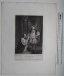 """Старинная гравюра. Шекспир. """"Генрих VIII"""", акт V. 1803 год. (42 на 32 см.). Оригинал. фото 5"""