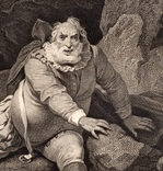 """Старинная гравюра. Шекспир. """"Генрих IV, часть 1"""". 1803 год. (42 на 32 см.). Оригинал. фото 2"""