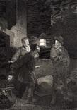 """Старинная гравюра. Шекспир. """"Генрих IV, часть 1"""". 1803 год. (42 на 32 см.). Оригинал."""