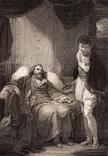 """Старинная гравюра. Шекспир. """"Генрих IV, часть 2"""". 1803 год. (42 на 32 см.). Оригинал."""