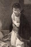 """Старинная гравюра. Шекспир. """"Генрих IV, часть 2"""". 1803 год. (42 на 32 см.). Оригинал. фото 2"""