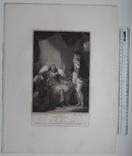"""Старинная гравюра. Шекспир. """"Генрих IV, часть 2"""". 1803 год. (42 на 32 см.). Оригинал. фото 5"""