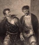 """Старинная гравюра. Шекспир. """"Король Иоанн"""", акт IV. 1803 год. (42 на 32 см.). Оригинал. фото 2"""