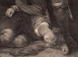 """Старинная гравюра. Шекспир. """"Король Иоанн"""", акт IV. 1803 год. (42 на 32 см.). Оригинал. фото 3"""