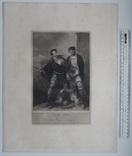 """Старинная гравюра. Шекспир. """"Король Иоанн"""", акт IV. 1803 год. (42 на 32 см.). Оригинал. фото 5"""