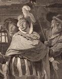 """Старинная гравюра. Шекспир. """"Много шума из ничего"""". 1803 год. (42 на 32 см.). Оригинал. фото 2"""