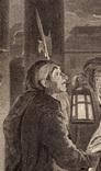 """Старинная гравюра. Шекспир. """"Много шума из ничего"""". 1803 год. (42 на 32 см.). Оригинал. фото 3"""