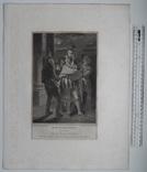 """Старинная гравюра. Шекспир. """"Много шума из ничего"""". 1803 год. (42 на 32 см.). Оригинал. фото 5"""