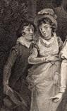 """Старинная гравюра. Шекспир. """"Укрощение строптивой"""". 1803 год. (42 на 32 см.). Оригинал. фото 3"""