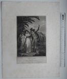 """Старинная гравюра. Шекспир. """"Укрощение строптивой"""". 1803 год. (42 на 32 см.). Оригинал. фото 5"""