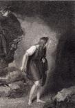 "Старинная гравюра. Шекспир. ""Цимбелин"", акт III. 1803 год. (42 на 32 см.). Оригинал."