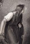 """Старинная гравюра. Шекспир. """"Цимбелин"""", акт III. 1803 год. (42 на 32 см.). Оригинал. фото 2"""