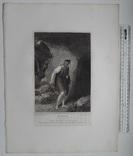 """Старинная гравюра. Шекспир. """"Цимбелин"""", акт III. 1803 год. (42 на 32 см.). Оригинал. фото 5"""