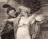 """Старинная гравюра. Шекспир. """"Троил и Крессида"""". 1803 год. (42 на 32 см.). Оригинал. фото 2"""